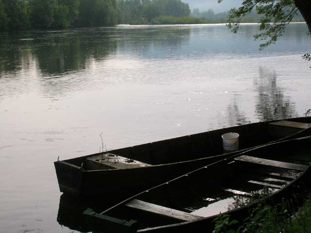 Two Wooden Boats On The Dordogne