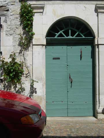 Red Car, Teal Door- Martel
